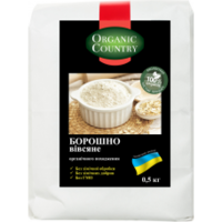 Мука овсяная цельнозерновая органическая, 0,5 кг, Украина, ORGANIC COUNTRY