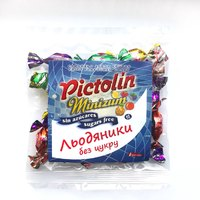 "Ассорти конфет без сахара ""Апельсин, лимон, клубника, ананас, ежевика, дыня"" Pictolin"