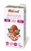 Молоко органическое растительное из миндаля с протеином без сахара Ecomil