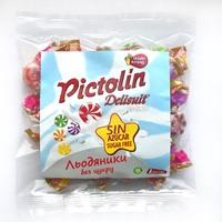 Ассорти фруктово-сливочных конфет без сахара (яблоко, клубника, персик, ананас, ежевика), Pictolin