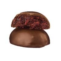 Яблочно-малиновые конфеты в черном шоколаде,  Snail BOB