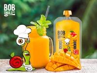 Пюре манго, 400г, Snail Bob