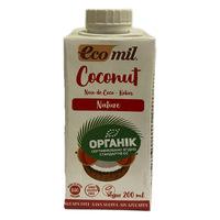 Органическое растительное молоко из кокоса без сахара 0,2л