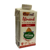Органическое растительное молоко из миндаля без сахара, 0,2 л