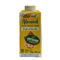 Органическое растительное молоко из миндаля с сиропом агавы и с ванилью 0,2 л