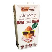 Молоко миндальное с ванилью без сахара, Ecomil