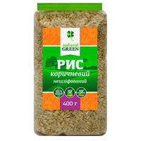 Рис коричневый цельнозерновой нешлифованный, NATURAL GREEN