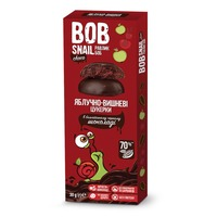 Яблочно-вишневые конфеты в черном шоколаде,  Snail BOB